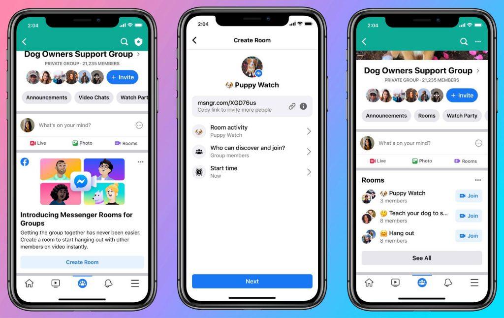 Facebook Messenger Rooms in Groups