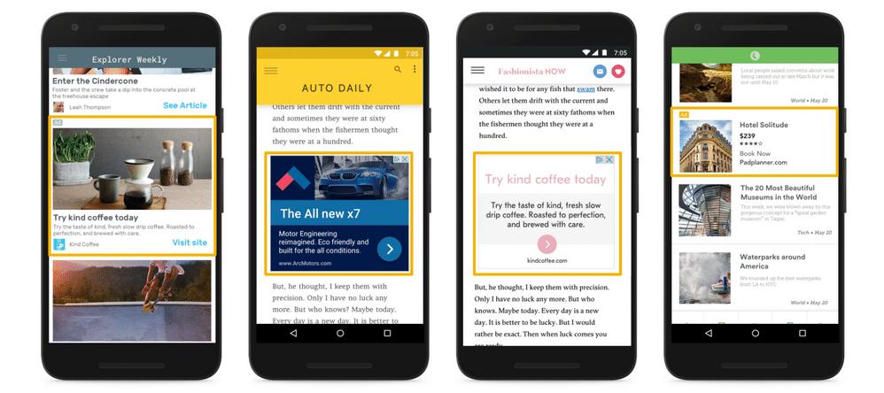 Google Responsive Display Ads On Mobile Phone