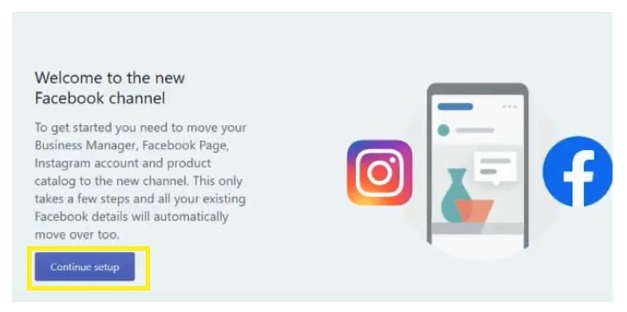 continue Facebook account from Shopify